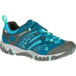 Merrell Womens All Out Blaze Ventilator Waterproof Hiking Shoes, Turquoise/aqua – Blue