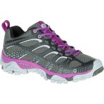 Merrell Womens Moab Edge Shoes, Black/purple – Black