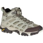 Merrell Womens Moab Mid Waterproof Hiking Boots, Granite – Black
