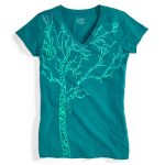 Ems Womens Timber Graphic Tee – Green – Size S