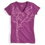 Ems Womens Timber Graphic Tee – Purple – Size XS