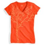 Ems Womens Timber Graphic Tee – Red – Size XS