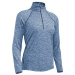 Ems Womens Techwick Transition ฝ-Zip Pullover – Blue – Size XS