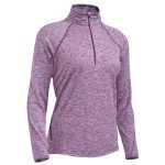 Ems Womens Techwick Transition ฝ-Zip Pullover – Red – Size S