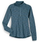 Ems Womens Techwick Transition ฝ Zip – Stripe – Green – Size S