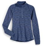 Ems Womens Techwick Transition ฝ Zip – Stripe – Blue – Size XL