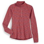 Ems Womens Techwick Transition ฝ Zip – Stripe – Red – Size XL