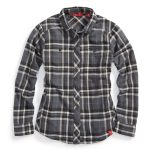 Ems Womens Cabin Flannel Shirt – Black – Size XS