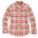 Ems Womens Cabin Flannel Shirt – White – Size XS
