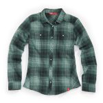 Ems Womens Cabin Flannel Shirt – Green – Size S