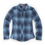 Ems Womens Cabin Flannel Shirt – Blue – Size S