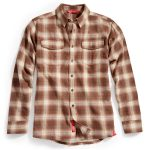 Ems Mens Cabin Flannel Shirt – Brown – Size L