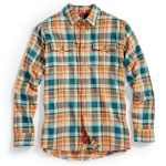 Ems Mens Cabin Flannel Shirt – Green – Size XL