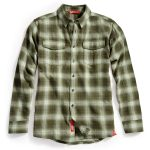 Ems Mens Cabin Flannel Shirt – Green – Size L