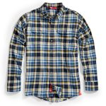 Ems Mens Cabin Flannel Shirt – Blue – Size S