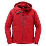 Outdoor Research Mens Ferrosi Summit Hooded Jacket – Red