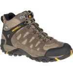 Merrell Mens Accentor Waterproof Mid Hiking Boots, Boulder – Brown