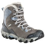 Oboz Womens 7″ Bridger Bdry Hiking Boots, Gray – Black