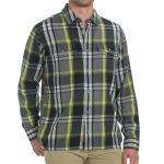 Ems Mens Timber Flannel Shirt – Black – Size S