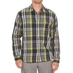 Ems Mens Timber Lined Flannel Shirt – Black – Size S