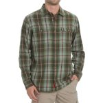Ems Mens Timber Lined Flannel Shirt – Green – Size XL