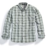 Ems Mens Journey Plaid Long-Sleeve Shirt – Black – Size S