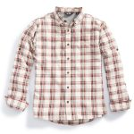 Ems Mens Journey Plaid Long-Sleeve Shirt – White – Size XL