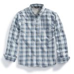 Ems Mens Journey Plaid Long-Sleeve Shirt – Blue – Size XL