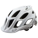 FOX Flux Matte Cycling Helmet – White