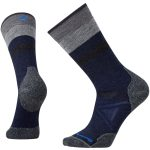 Smartwool Mens Phd Outdoor Medium Pattern Crew Socks – Blue