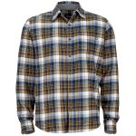 Marmot Mens Fairfax Flannel Shirt – Blue – Size M
