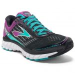 Brooks Womens Ghost 9 Running Shoes, Black/sparkling Grape – Black
