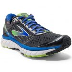 Brooks Mens Ghost 9 Running Shoes, Wide, Anthracite/electric Blue/black – Black