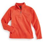 Ems Girls Classic Micro Fleece 1/4 Zip Hoodie – Red – Size L
