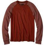 Prana Mens Drifter Crewneck Long-Sleeve Shirt – Red – Size XL