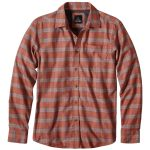 Prana Mens Alabaster Flannel Long-Sleeve Shirt – Red – Size XL
