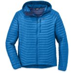 Outdoor Research Men's Verismo Hooded Down Jacket – Blue