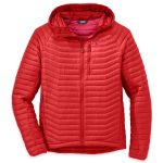 Outdoor Research Men's Verismo Hooded Down Jacket – Red