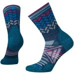 Smartwool Womens Phd Outdoor Light Patterned Mid Crew Socks – Blue