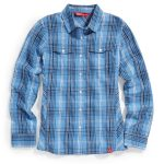 Ems Womens Timber Flannel Shirt – Blue – Size XS