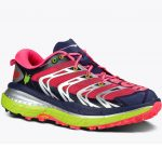 Hoka One One Womens Speedgoat Trail Running Shoes, Astral Aura/neon Pink – Red