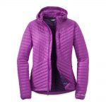 Outdoor Research Women's Verismo Hooded Down Jacket – Purple