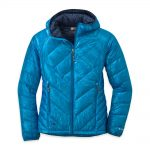 Outdoor Research Women's Filament Hooded Down Jacket – Blue