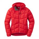 Outdoor Research Women's Sonata Ultra Hooded Down Jacket – Red