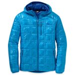 Outdoor Research Men's Filament Hooded Down Jacket – Blue