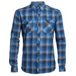Icebreaker Men's Lodge Long Sleeve Flannel Shirt – Blue – Size XL