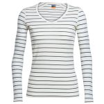 Icebreaker Women's Oasis Long Sleeve V-Neck – White