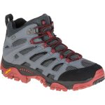 Merrell Men's Moab Mid Waterproof Hiking Shoe, Castle Rock/black – Black