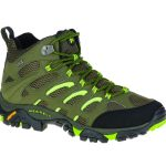 Merrell Men's Moab Mid Waterproof Hiking Shoe, Dusty Olive/black – Green