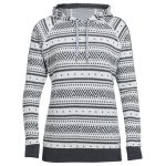 Icebreaker Women's Meadow Long-Sleeve Hood Icon, Fairisle – White – Size L